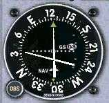 VOR indicating: High on the Glideslope, On the Localizer